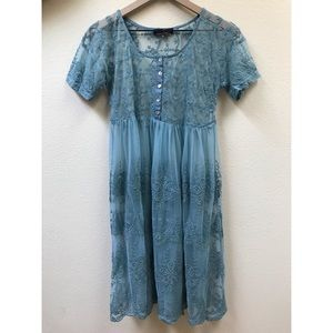 Suzanne betro lace embroidered dress